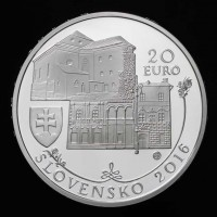 20 EURO/2016 - Banská Bystrica Heritage Site - silver collector coin