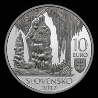 Obverse 10 EURO/2017 -UNESCO World Heritage – Caves of Slovak Karst