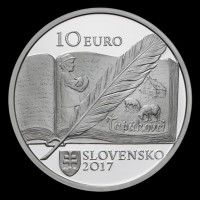 Obverse - 10 EURO/2017 - Božena Slančíková Timrava – 150th anniversary of the birth