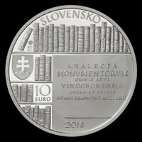 Obverse 10 EURO/2018 - Adam František Kollár - 300th anniversary of the birth