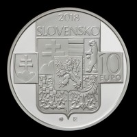 Obverse 10 EURO/2018 - 100th anniversary of the establishment of the Czechoslovak Republic