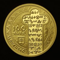 Gold collector coin worth 100 Euros - Prince Rastislav minted in 2014
