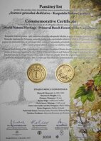 Commemorative letter 100 Euro 2015 - Primeval beech forests of the Carpathians - World Natural Heritage