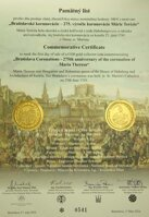 Commemorative letter 100 Euro / 2016 - Mária  Theresa - 275th anniversary of the coronation in Bratislava