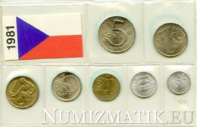 Coin set - CSSR 1981