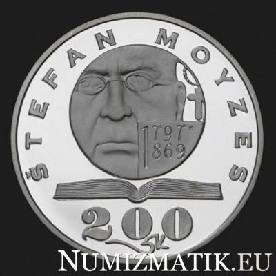 200 Sk/1997 - Štefan Moyzes - 200th anniversary of the birth