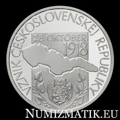 10 EURO/2018 - 100th anniversary of the establishment of the Czechoslovak Republic