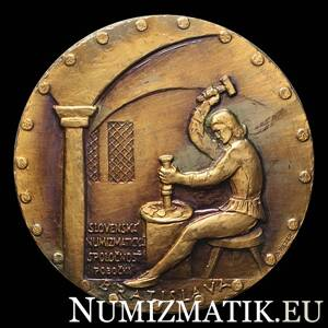 Bratislava - 550th anniversary of the granting of coin rights, tombac medal - A. Peter
