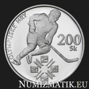 200 Sk/1994 - The centenary of the International Olympic Committee and the first participation of the Slovak Republic in the Olympic Games