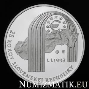 25 EURO/2018 - 25th anniversary of the establishment of the Slovak Republic