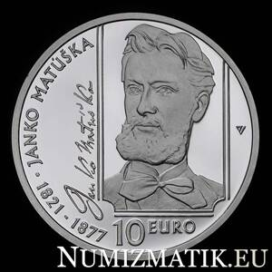 10 €/2021 - Janko Matúška - 200th anniversary of the birth