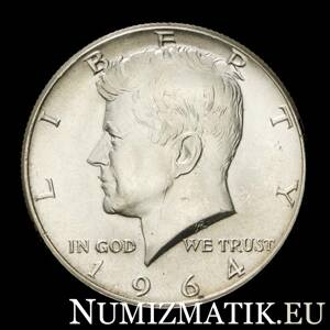 USA - 1/2 dolár/1964 Kennedy Half Dollar