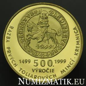 5000 Sk/1999 - 500th anniversary of the minting of the first thaler coins in Kremnica