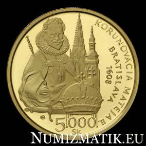 5000 Sk/2008 - Matthias II. - 400th anniversary of the coronation